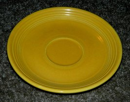 VINTAGE FIESTA WARE FIESTAWARE SAUCER Original 1930s Yellow 6-inch Diame... - $14.00