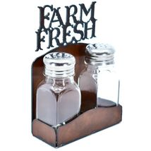 "Country Western Rustic Iron Metal Cutout ""Farm Fresh"" Salt & Pepper Shaker Set image 5"