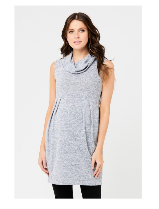 NEW NWT Ripe Maternity Women's Maternity Melange Tunic, Ash,Gray Large Small image 7