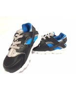 Nike Air Huarache Run TD Trainers Toddlers infant / Baby Shoes Black/Blu... - $38.58