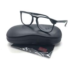 7e747bf72f1 Ray Ban RB 7074 Eyeglasses 5364 Black Rubber Frames 52mm NEW! -  96.97
