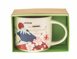 Starbucks You are Here Japan Mt Fuji Sakura Coffee City Mug 14Oz Daruma - $40.18