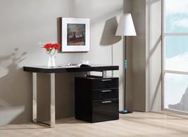 J&M Geneva Walnut Veneer Modern Office Desk Chic Contemporary Style