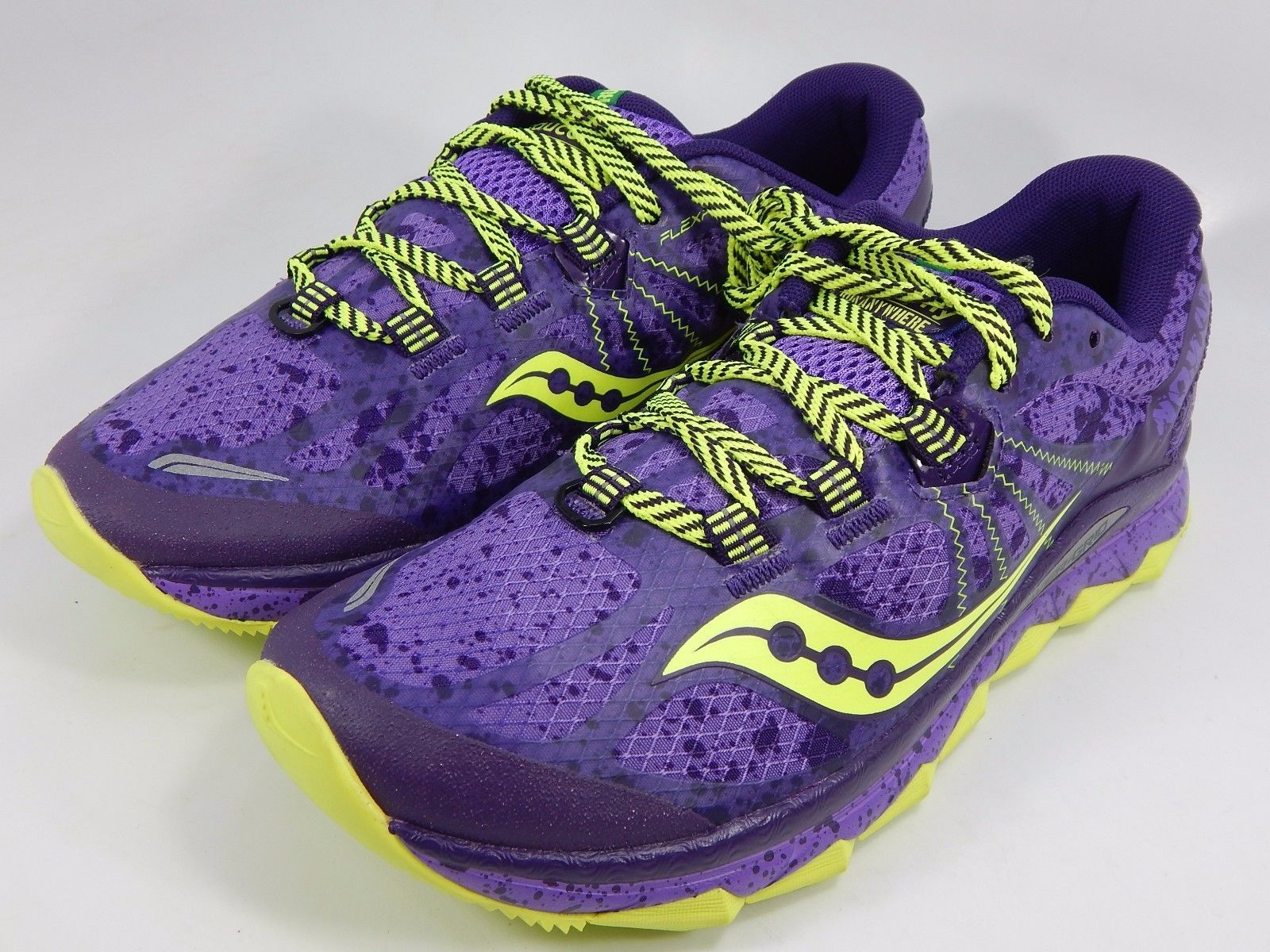 Saucony Nomad TR Women's Trail Running Shoes Sz US 8 M (B) EU 39 Purple S10287-4