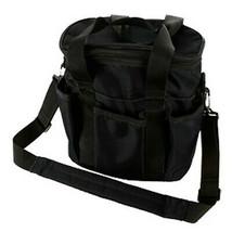 7.5 X 10.5 X 10 Hilason Horse Accessories Tote Grooming Bag W/ Zipper Lid Black - $25.69