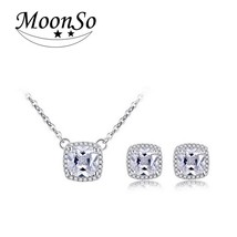 Moonso 925 Sterling Silver Jewelry for women wedding Austrian Crystal St... - €10,48 EUR