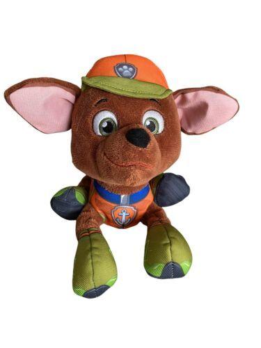 "Paw Patrol Plush Zuma Dog Puppy 8"" Spin Master 2015 Jungle Rescue Brown Orange - $18.80"