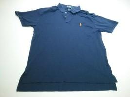 Ralph Lauren Navy Blue Polo Shirt Size M Bin Z - $17.00