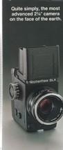 Rolleiflex SLX Fold Out Manual (1980's) - $4.00