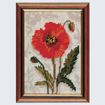 Poppy Head Tapestry starter Kit from Anchor MR911 - $30.81