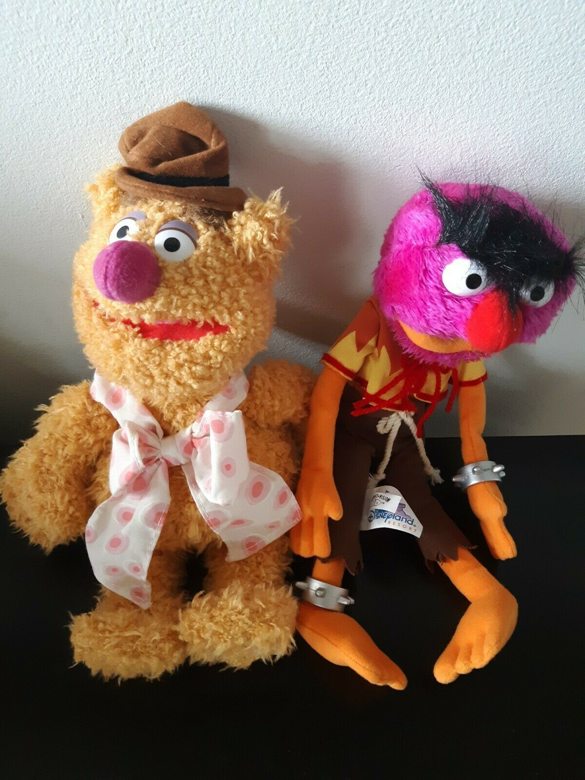 Set of 2 Disney Parks Muppet Vision 3D Plush Animal Fozzie Bear Stuffed Animals