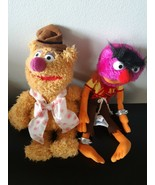 Set of 2 Disney Parks Muppet Vision 3D Plush Animal Fozzie Bear Stuffed ... - $36.58