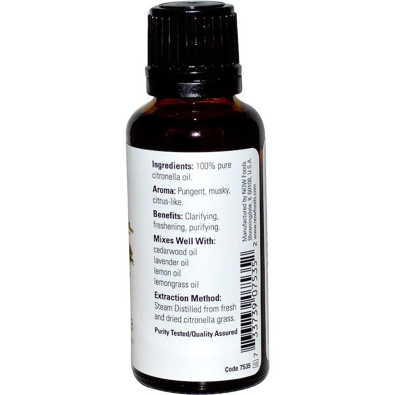 Now Foods, Essential Oils, Citronella, 4 fl oz (118 ml)  Aromatherapy