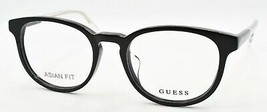 GUESS GU1973-F 001 Men's Eyeglasses Frames Asian Fit 51-19-145 Black / Clear - $49.27