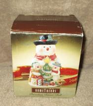 Home Trends Porcelain Dinner Bell Snowman (CS57) - $9.99