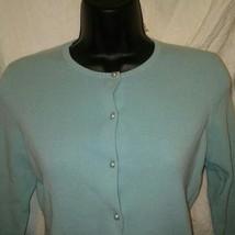 ATL Studio Women's Teal Cardigan Sweater Small - $39.40 CAD