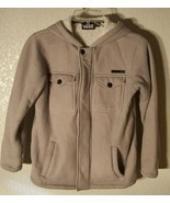 Vans Off The Wall Size M Teen Hoodie Jacket Gray Sherpa lining - $12.59