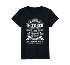 Dad Shirts -  Legends Were Born In October 1965 53th Birthday Gift Shirt Wowen - $19.95+