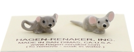 Hagen-Renaker Miniature Ceramic Mouse Figurine Tiny Baby Mice 2 Piece Set