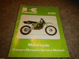 1981 81 Kawasaki KX80 Kx 80 C1 D1 Owner's Owner Service Manual - $29.91