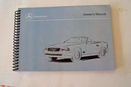 1994 1995 1996 Mercedes sl600 sl500 sl320  Owners Manual Parts W129 new reprint - $62.36