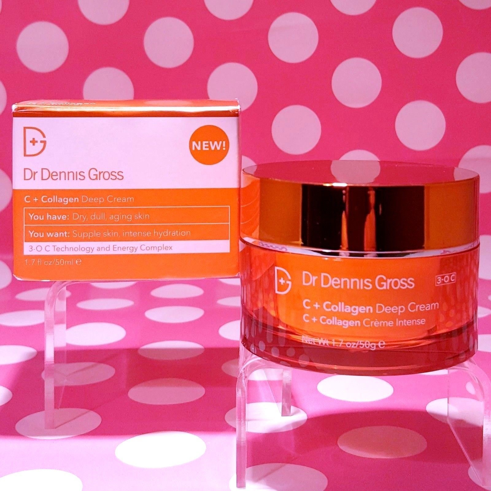 Dr Dennis Gross C + Collagen Deep Cream 1.7oz FULL SIZE! NEW BOXED!