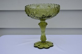 Fenton Rose Colonial Green High Footed Comport  #9222 CG - $14.85