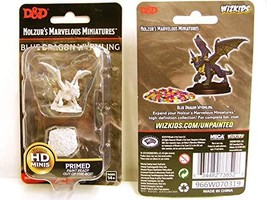 Blue Dragon Wyrmlin Nozurs Marvelous Miniatures D&D Unpainted Miniatures WizKids - $8.99