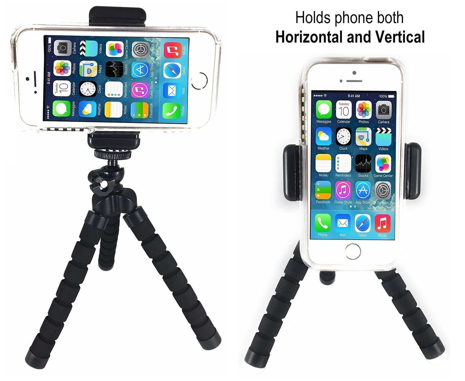 Flexible Mini Tripod Flexible Mount Holder Bluetooth Remote Shutter Phone Stand
