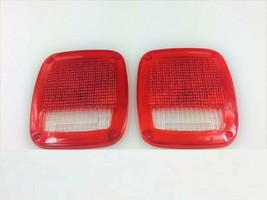 Acrylic Rear Tail Light Lens Set Compatible with Jeep Wrangler CJ 76-86 TJ YJ image 2