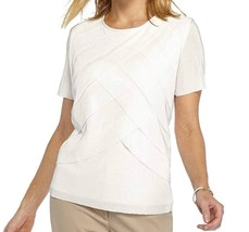Alfred Dunner Women's Ladies Who Lunch Tiered Top White M 4383-3 - $27.76