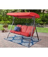 Patio/Deck/Garden Canopy Swings w/Cushions Color Red - $180.00