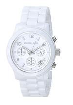 New Michael Kors Runway White Ceramic Chronograph MK5161 Women's Watch - $128.65