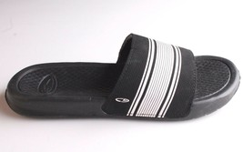 NEW C9 YOUTH CUSHION LITE BLACK/WHITE SLIP ON SANDALS SIZE L 4/5 image 2