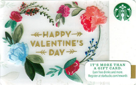 Starbucks 2016 Happy Valentine's Day Collectible Gift Card New No Value - $1.99