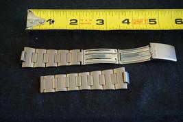 Vintage Speidel Digital Metal Watch Band Bracelet Brushed Stainless Steel - $26.67