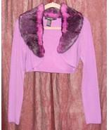 RAMPAGE CLOTHING COMPANY PURPLE SHRUG WITH FUAX FUR COLLAR SIZE M GUC - $18.99