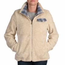 Pendleton women's deep pile Full Zip Beige Sherpa fleece jacket size Med... - $80.74