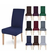 Polyester Spandex Fabric Stretch Dining Room Chair Seat Covers Slipcover... - $25.74