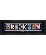 Brockton, MA. Framed Letter Art - $39.95