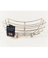 New, BINO 'Metro' Chrome Rectangular Fruit Basket - $17.88