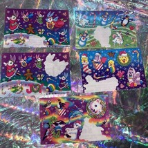 Vintage Lisa Frank Partial Rare Christmas Bunnies Sticker Sheets Holiday Nice