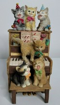 SAN FRANCISCO MUSIC BOX COMPANY CATS ON PIANO PLAYS HAPPY BIRTHDAY BY MA... - $49.99