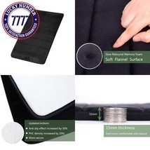 Findnew Non-Slip Soft Microfiber Memory Foam Bath Mat,Toilet Bath Rug,Wi... - $13.19