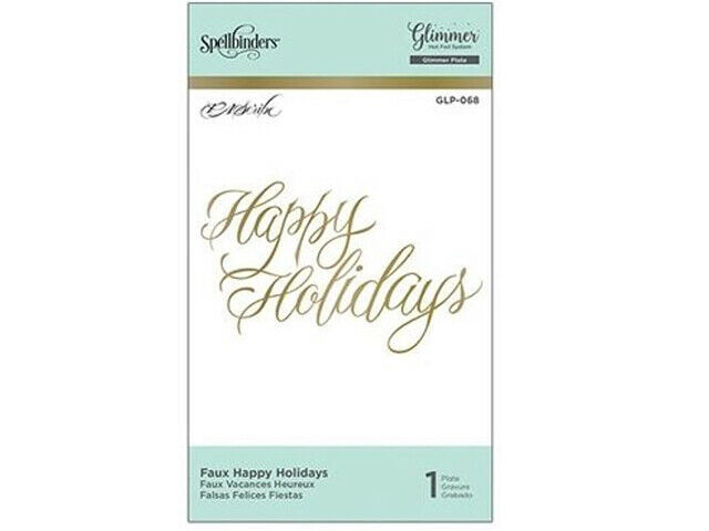 Spellbinders Hot Foil Happy Holidays Foil Transfer Letterplate #GLP-068