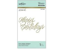 Spellbinders Hot Foil Happy Holidays Foil Transfer Letterplate #GLP-068 image 1