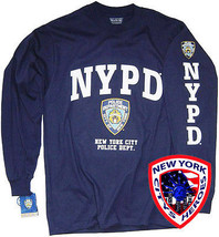 NYPD Shirt Long Sleeve T-Shirt Officially Licensed By The NYPD - $19.99