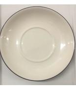 STARBUCKS Coffee Ceramic White Dark Purple Rim Saucer 2006 Dessert Plate... - $11.87