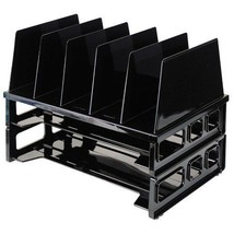 Officemate Letter Trays and Vertical Sorter Bla... - $22.98