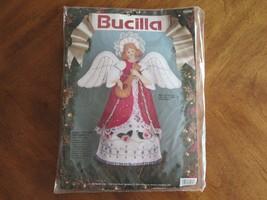 "Vtg Christmas Bucilla Angel Treetop Centerpiece ~11"" 82962 Felt Holiday Kit 1991 - $47.49"